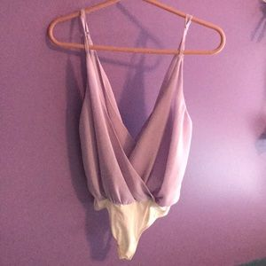 Lavender body suit from tobi